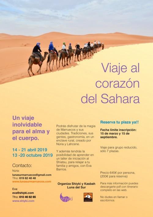 Viaje al desierto del Sahara y Shiatsu.
